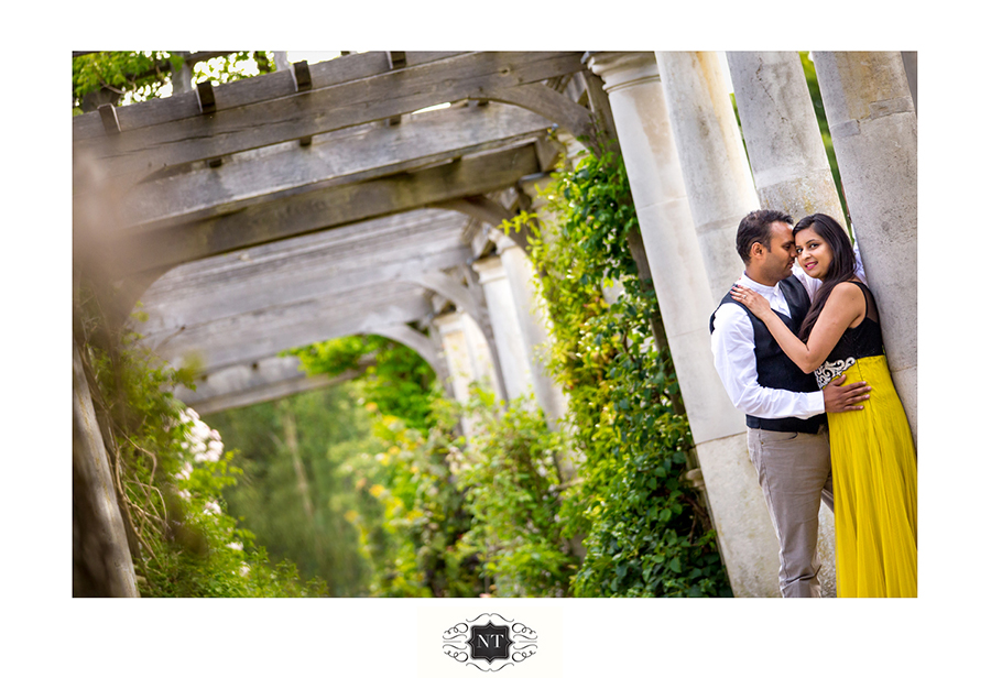 Pre Wed Couple Portraits at Hill Garden and Pergola, Hampstead Heath
