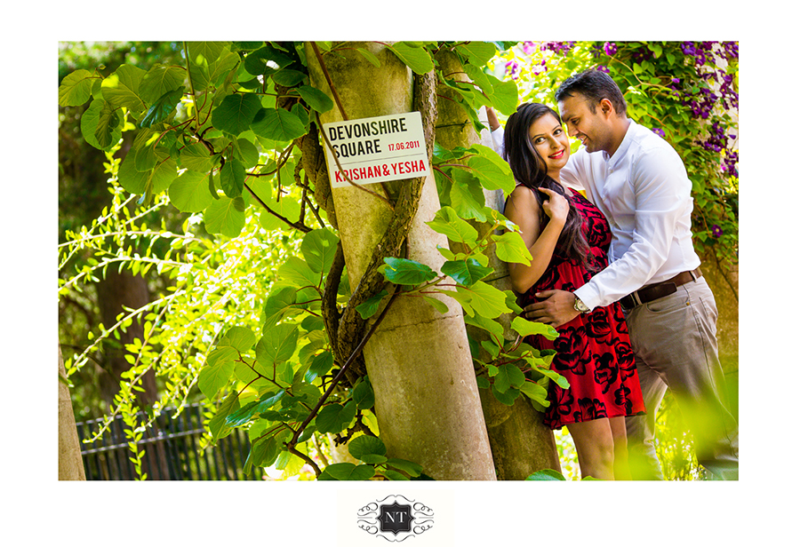 Pre Wedding Couple Portraits at Hill Garden and Pergola, Hampstead Heath