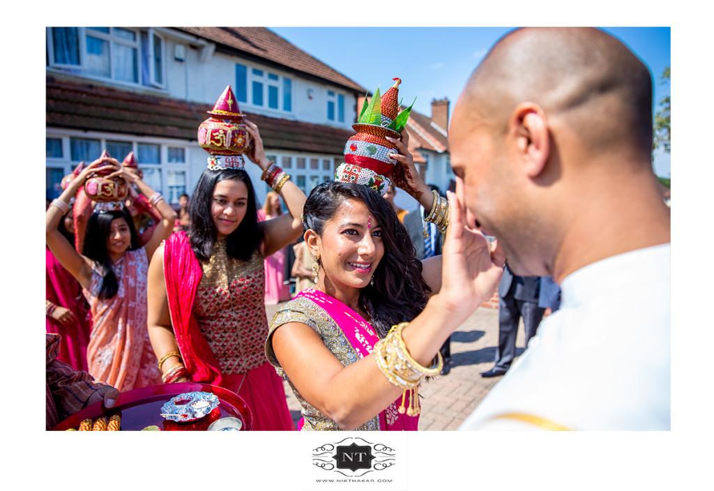 Indian wedding groom arriving ceremony