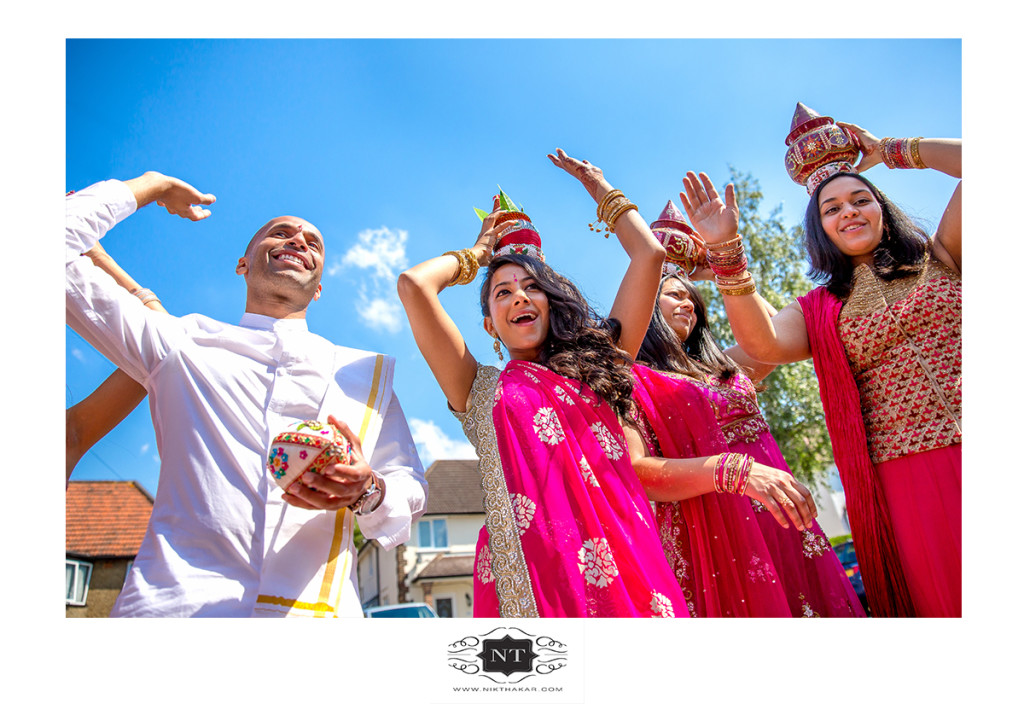 Indian groom dancing