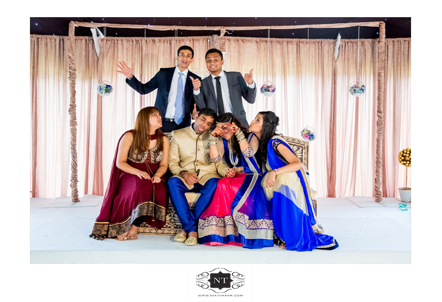Funny Group Photo at engagement