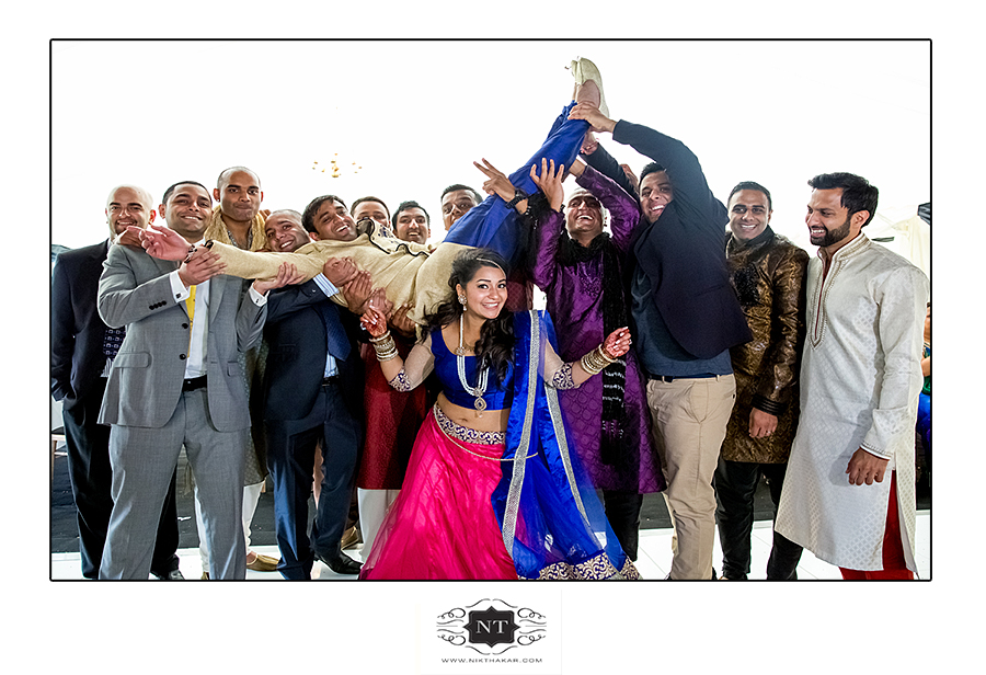 Funny group photo indian engagement ceremony
